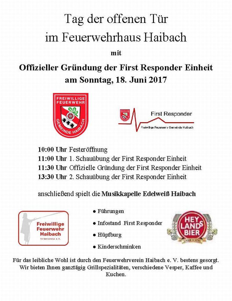 einladung der ff haibach zum tag der offenen t r kreisfeuerwehrverband aschaffenburg e v. Black Bedroom Furniture Sets. Home Design Ideas