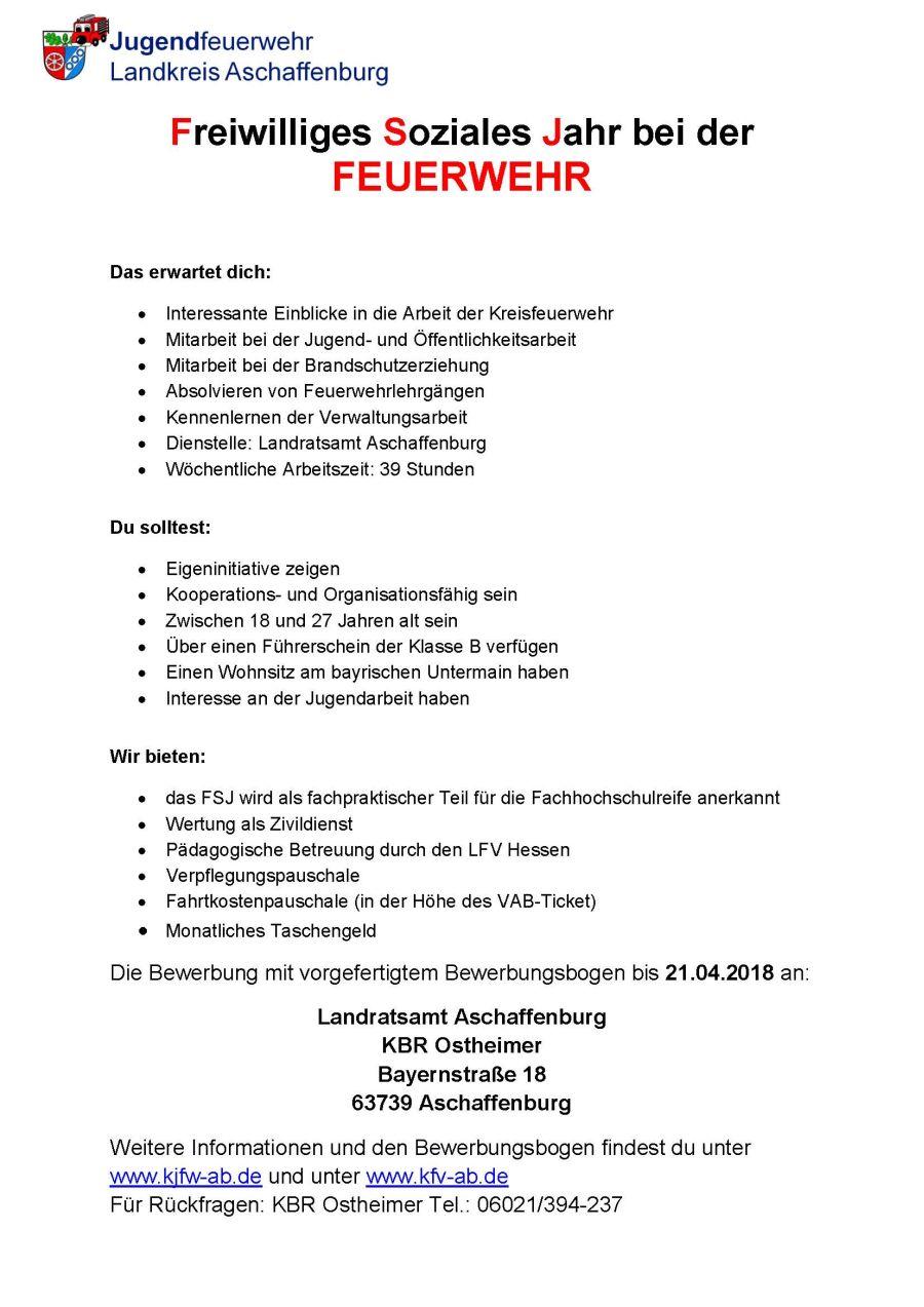 Ausschreibung FSJ-Stelle 2018/2019
